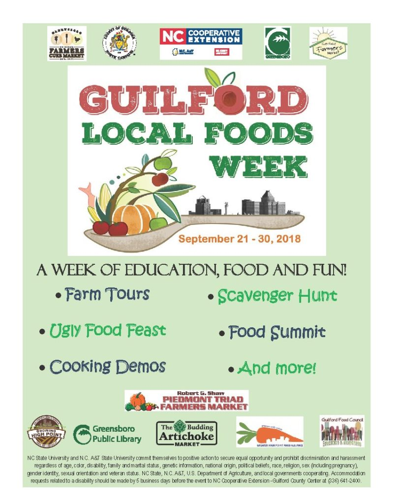 Guilford Local Foods Week poster