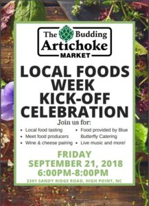 Cover photo for Local Foods Week Kick-Off September 21