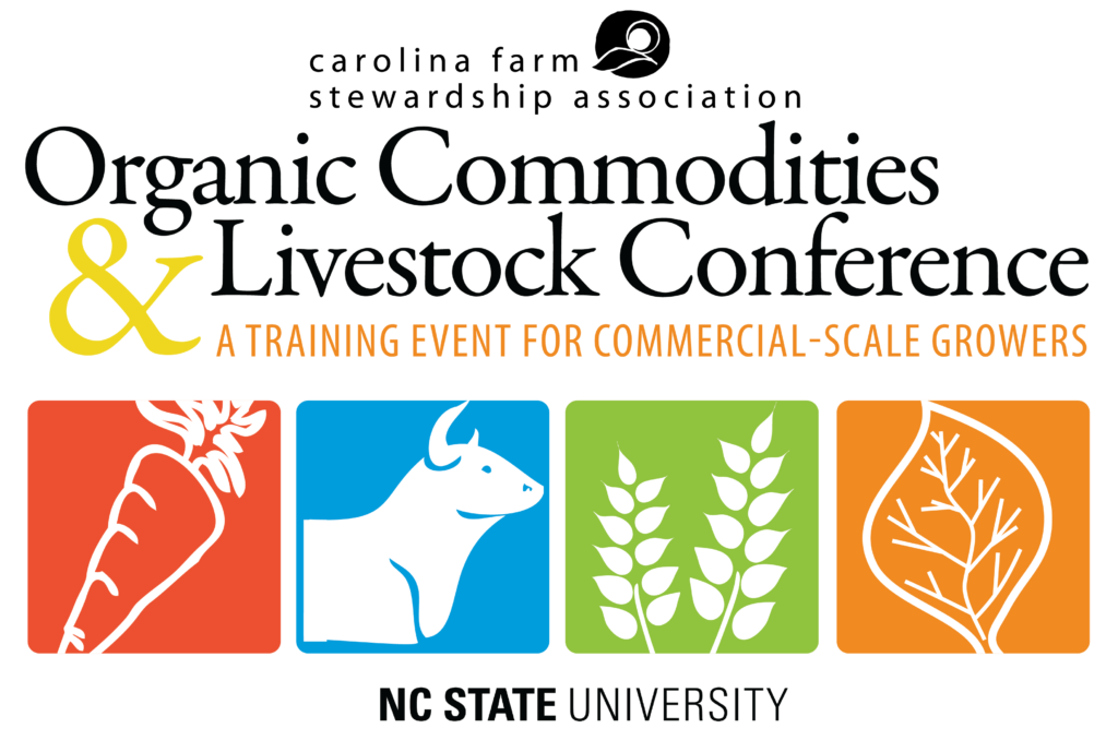 Organic Commodities and Livestock Conference flyer image