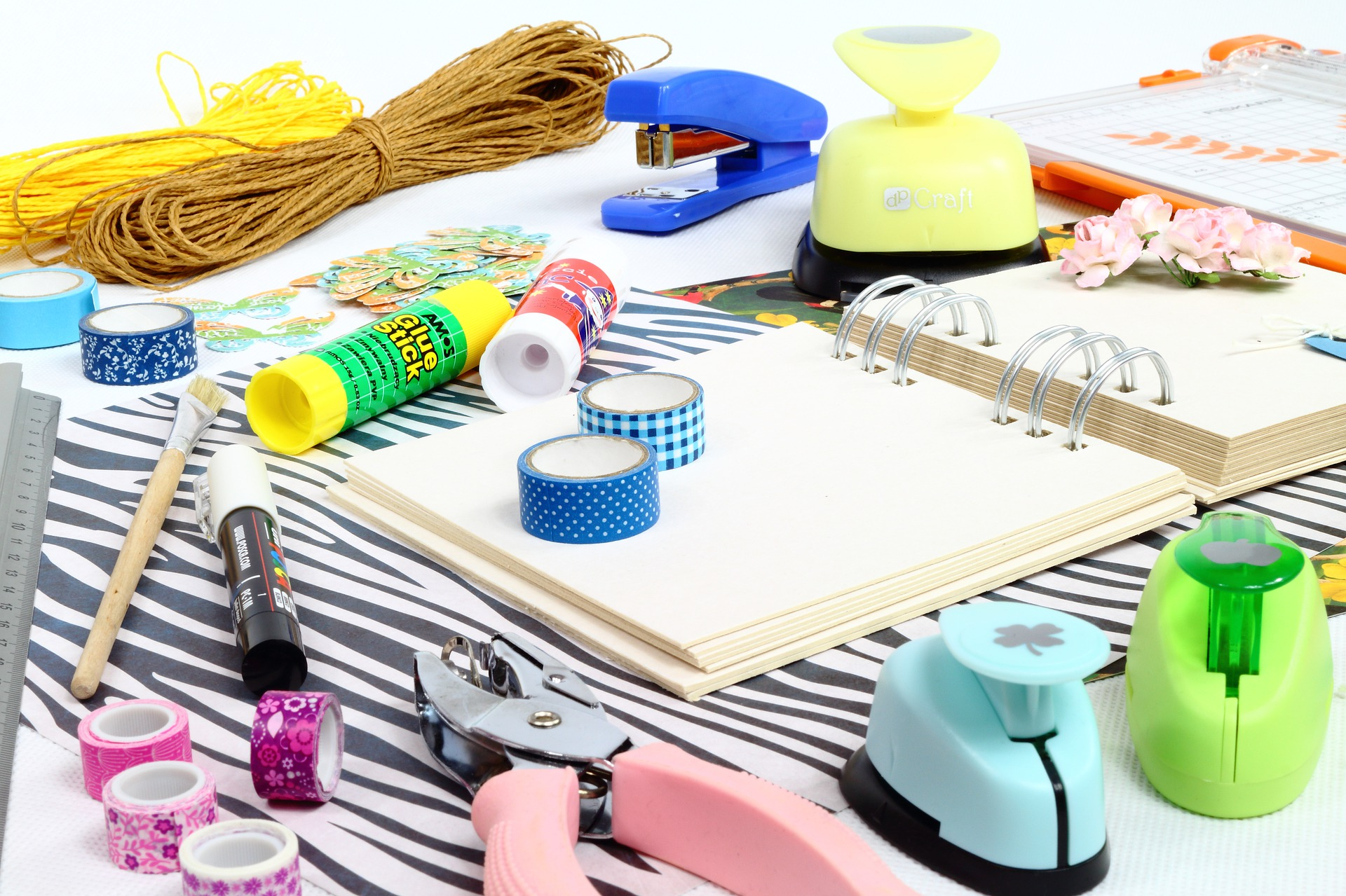 picture of scrapbooking supplies