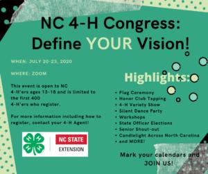 Cover photo for NC 4-H Virtual Congress