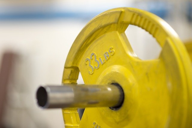 Barbell with weight