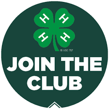 """4-H Logo with clover and """"Join the Club"""""""