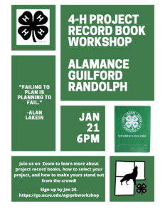 Cover photo for 4-H Project Record Books and Workshop