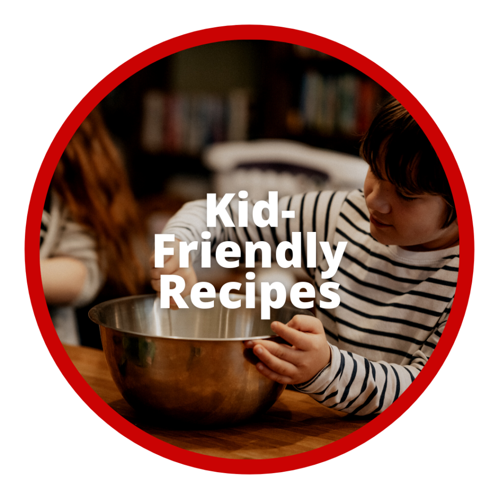 Kid with bowl in kitchen